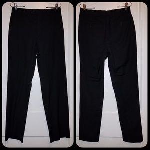 Calvin Klein Black Flat front pants size 30 W 32L